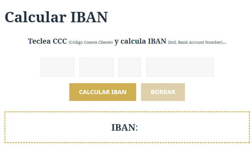 Calcular IBAN