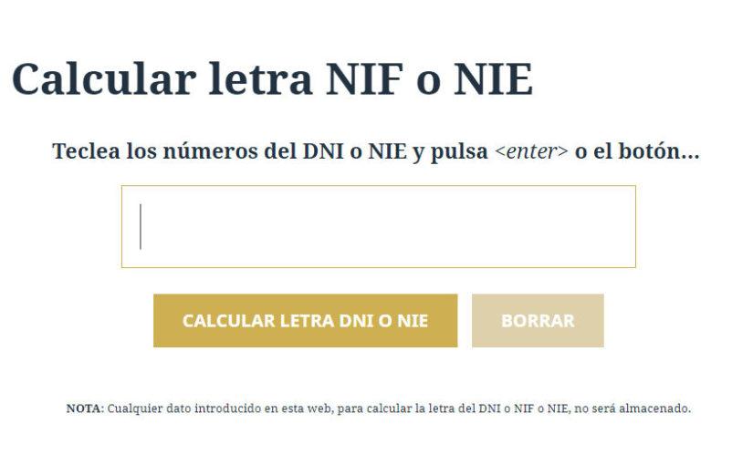 Letra NIF